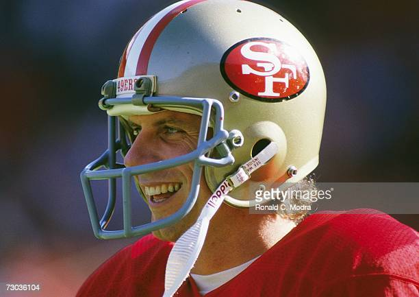 Quarterback Joe Montana of the San Francisco 49ers prior to a game against the Tampa Bay Buccaneers on November 18, l984 in san Francisco, California.