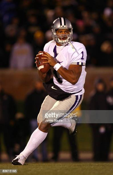 Quarterback Josh Freeman of the Kansas State Wildcats in action during the game against the Missouri Tigers on November 8, 2008 at Memorial Stadium...