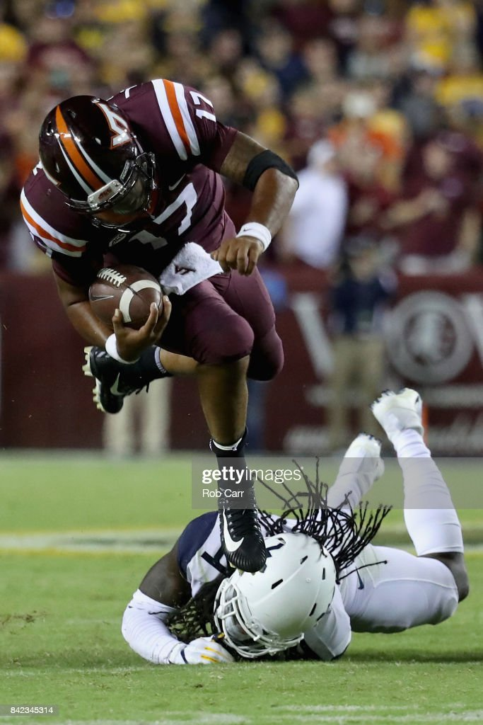 Virginia Tech v West Virginia : News Photo
