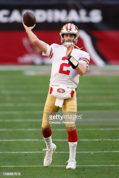 Quarterback Josh Rosen of the San Francisco 49ers during the NFL game against the Arizona Cardinals at State Farm Stadium on December 26, 2020 in...