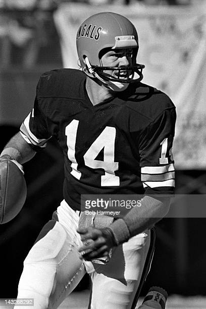 Quarterback Ken Anderson of the Cincinnati Bengals scrambles out of the pocket during a game against the San Diego Chargers on November 2 at...