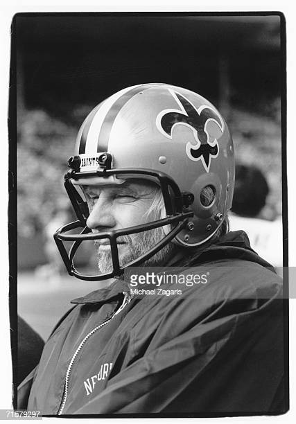Quarterback Ken Stabler of the New Orleans Saints looks on during the game against the San Francisco 49ers at Candlestick Park on November 13 1983 in...