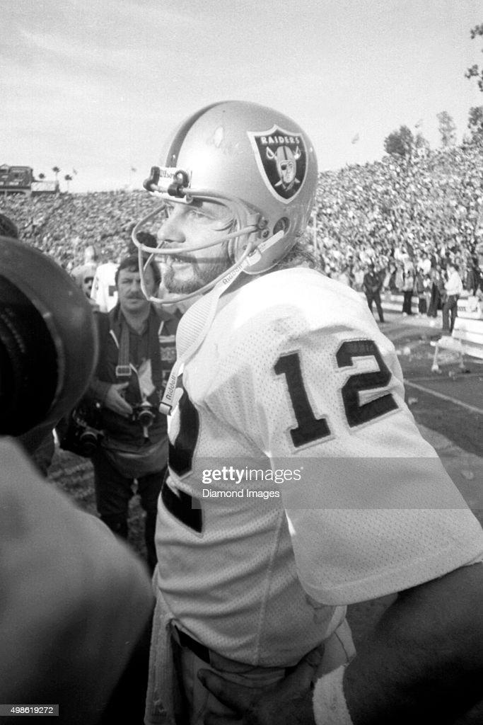 Quarterback Ken Stabler 12 Of The Oakland Raiders Stands On Sideline After Super Bowl