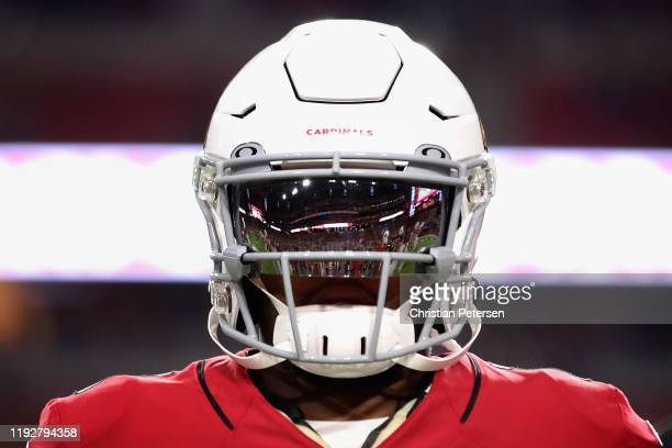Quarterback Kyler Murray of the Arizona Cardinals warms up before the NFL game against the Pittsburgh Steelers at State Farm Stadium on December 08,...