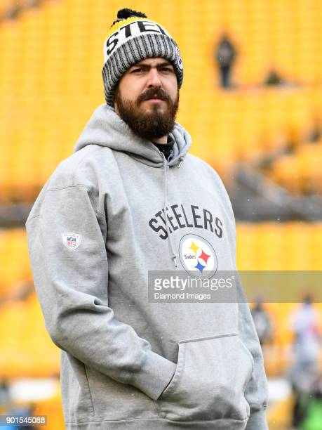 Quarterback Landry Jones of the Pittsburgh Steelers stands on the field prior to a game on December 31 2017 against the Cleveland Browns at Heinz...