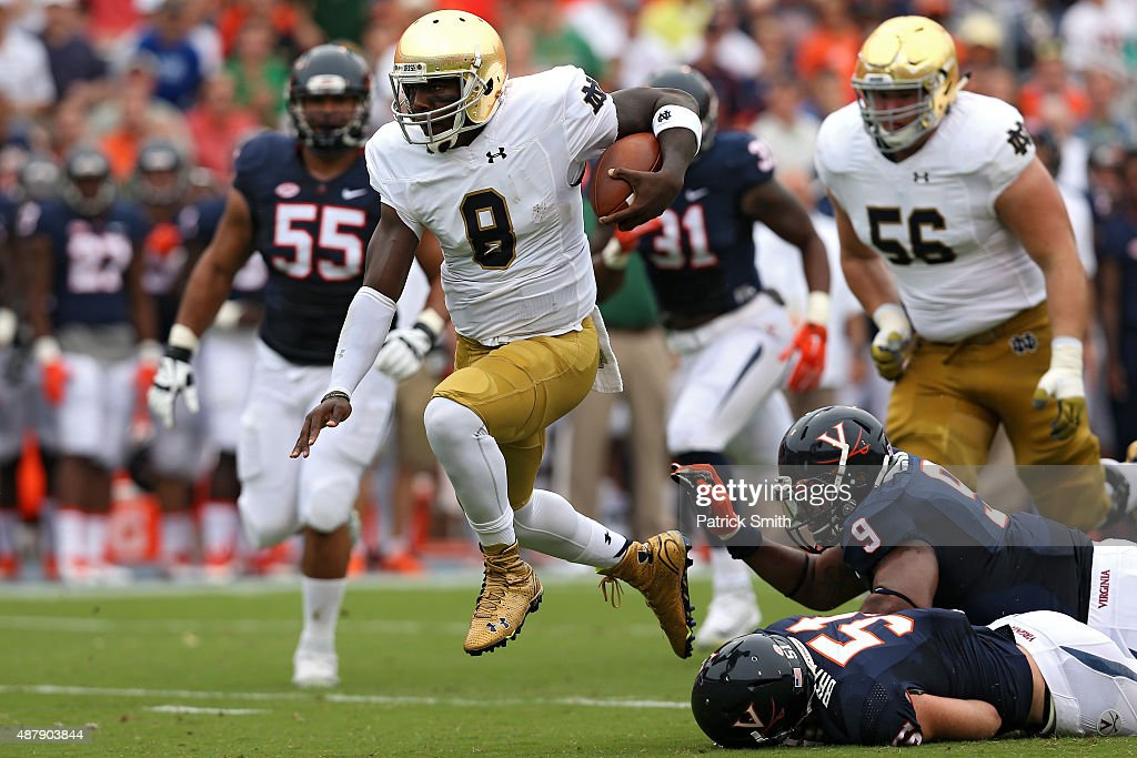 Notre Dame v Virginia : News Photo