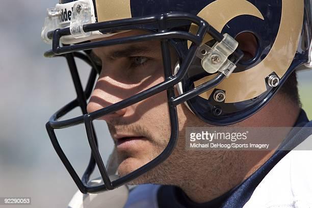 Quarterback Marc Bulger of the St Louis Rams during a NFL game against the Jacksonville Jaguars at Jacksonville Municipal Stadium on October 18 2009...