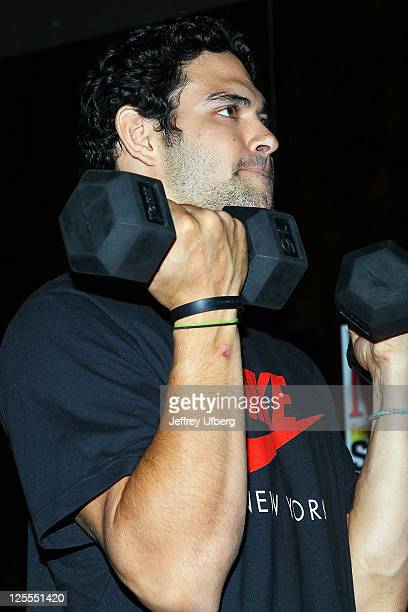 NFL Quarterback Mark Sanchez attends the Ubisoft's Your Shape Fitness Evolved launch at Club H Fitness on November 16 2010 in New York City