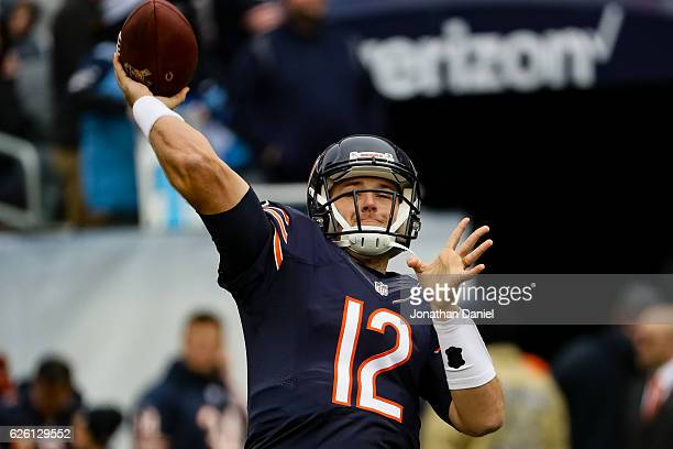 e7f8d00ab3e Quarterback Matt Barkley of the Chicago Bears warms up prior to the game  against the Tennessee