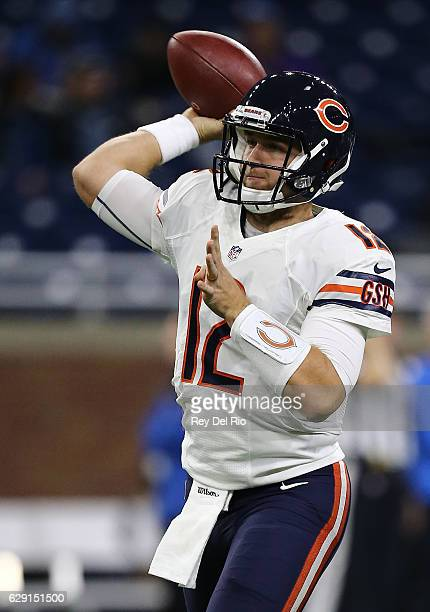 d7c1dad3f30 Quarterback Matt Barkley of the Chicago Bears warms up prior to the start  of the game