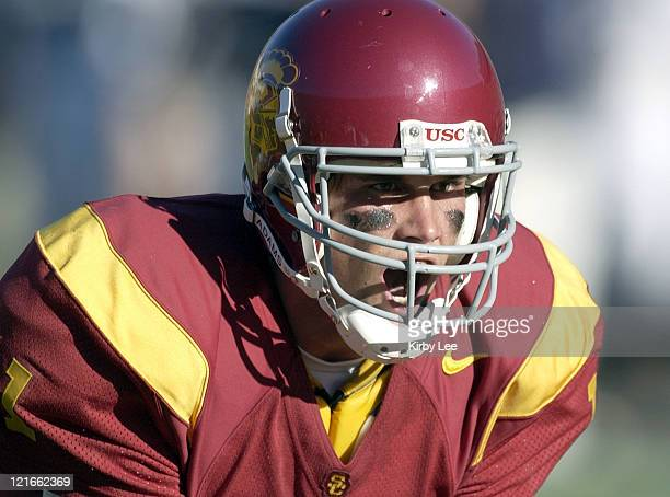 USC quarterback Matt Leinart during Brigham Young vs University of Southern California September 6 2003 at Los Angeles Memorial Coliseum in Los...