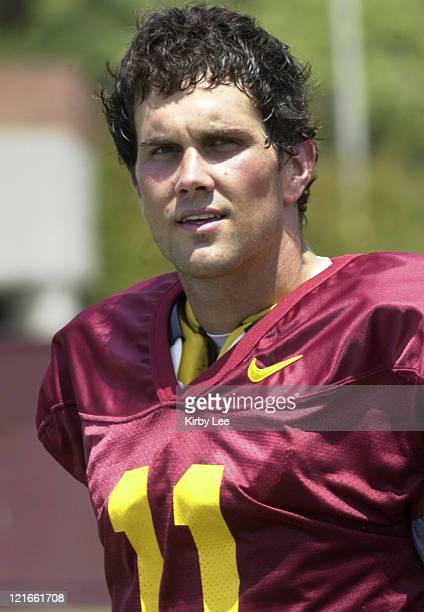 USC quarterback Matt Leinart during practice at Howard Jones Field in Los Angeles Calif on Wednesday August 18 2004