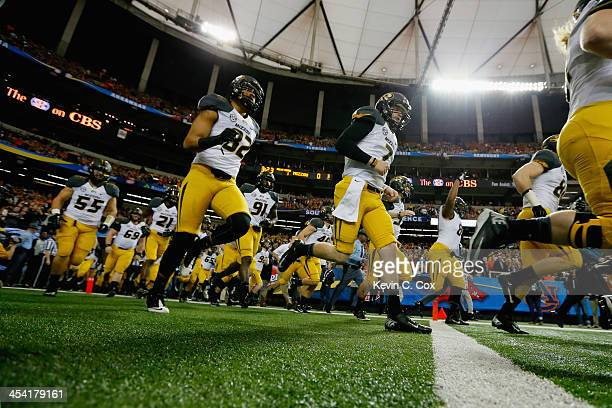 Quarterback Maty Mauk of the Missouri Tigers takes the field before playing against the Auburn Tigers during the SEC Championship Game at Georgia...