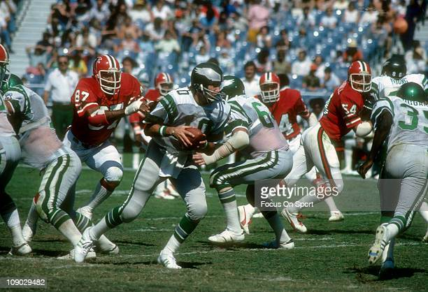 Quarterback Mike Boryla of the Philadelphia Eagles in action against the Atlanta Falcons during an NFL football game at AtlantaFulton County Stadium...