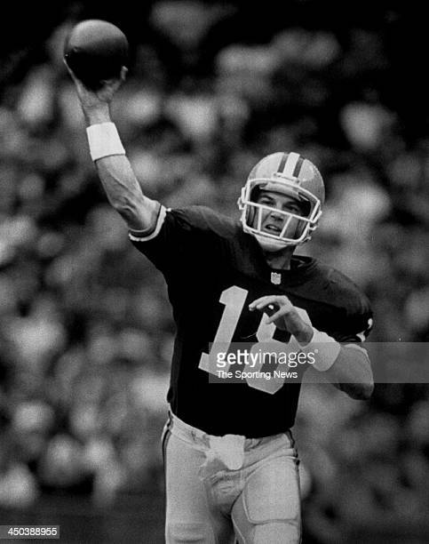 Quarterback Mike Tomczak of the Cleveland Browns during an NFL game circa 1992 at in Cleveland Ohio Tomczak played for the Browns in 1992