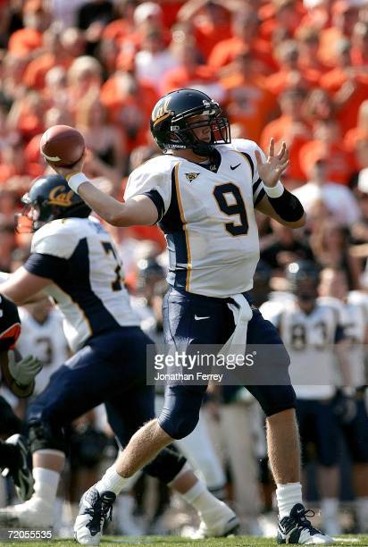 Quarterback Nate Longshore of the California Golden Bears against the Oregon State Beavers on September 30 2006 at Reser Stadium in Corvalis Oregon