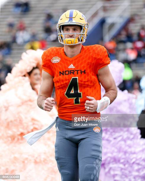 Quarterback Nate Peterman from Pittsburgh of the North Team during the 2017 Resse's Senior Bowl at LaddPeebles Stadium on January 28 2017 in Mobile...