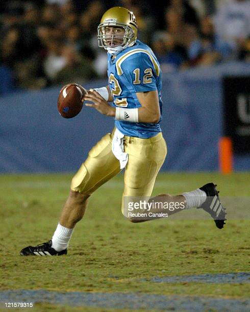 Quarterback Patrick Cowan of the UCLA Bruins in a 25 to 7 victory over the Oregon State Beavers on November 11 2006 at the Rose Bowl in Pasadena...