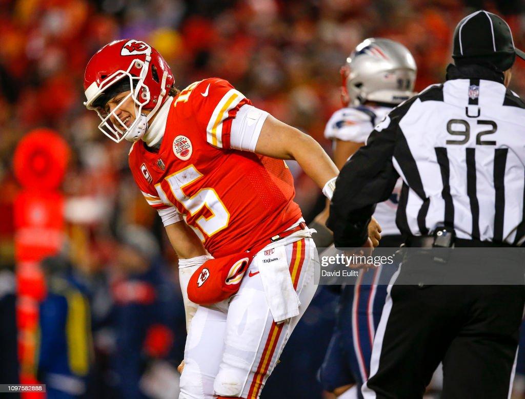 AFC Championship - New England Patriots v Kansas City Chiefs : News Photo