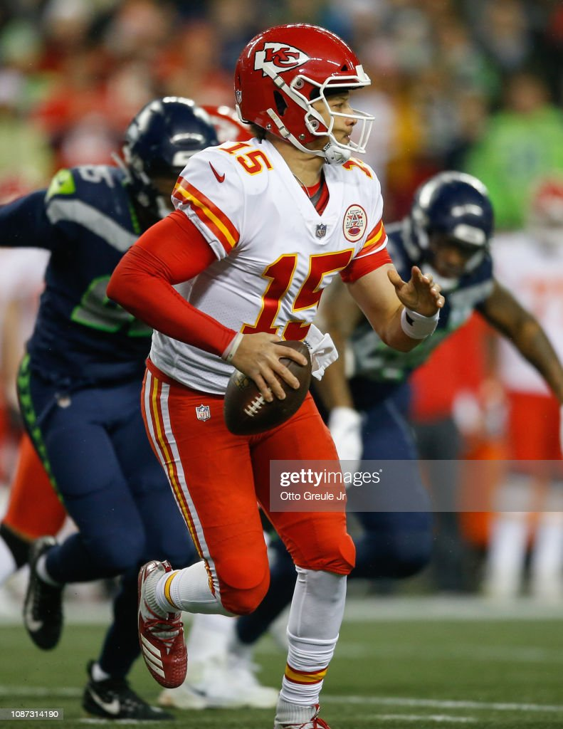 Quarterback Patrick Mahomes of the Kansas City Chiefs in