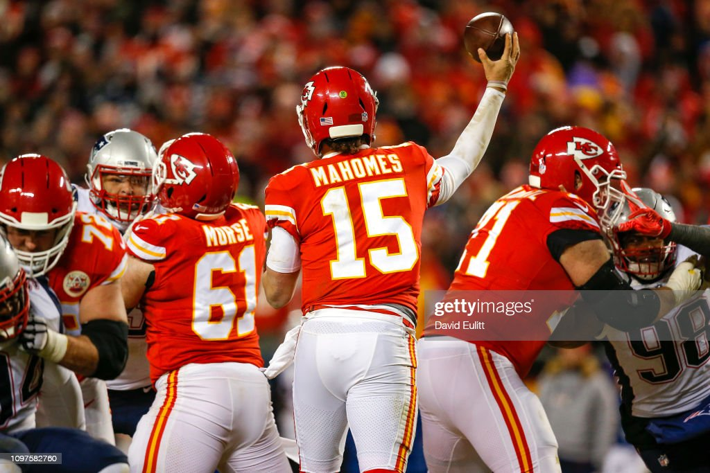AFC Championship - New England Patriots v Kansas City Chiefs : News Photo