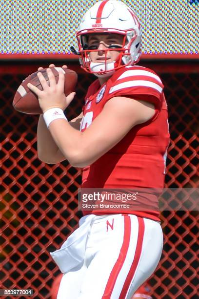 Quarterback Patrick O'Brien of the Nebraska Cornhuskers warms up before the game against the Rutgers Scarlet Knights at Memorial Stadium on September...