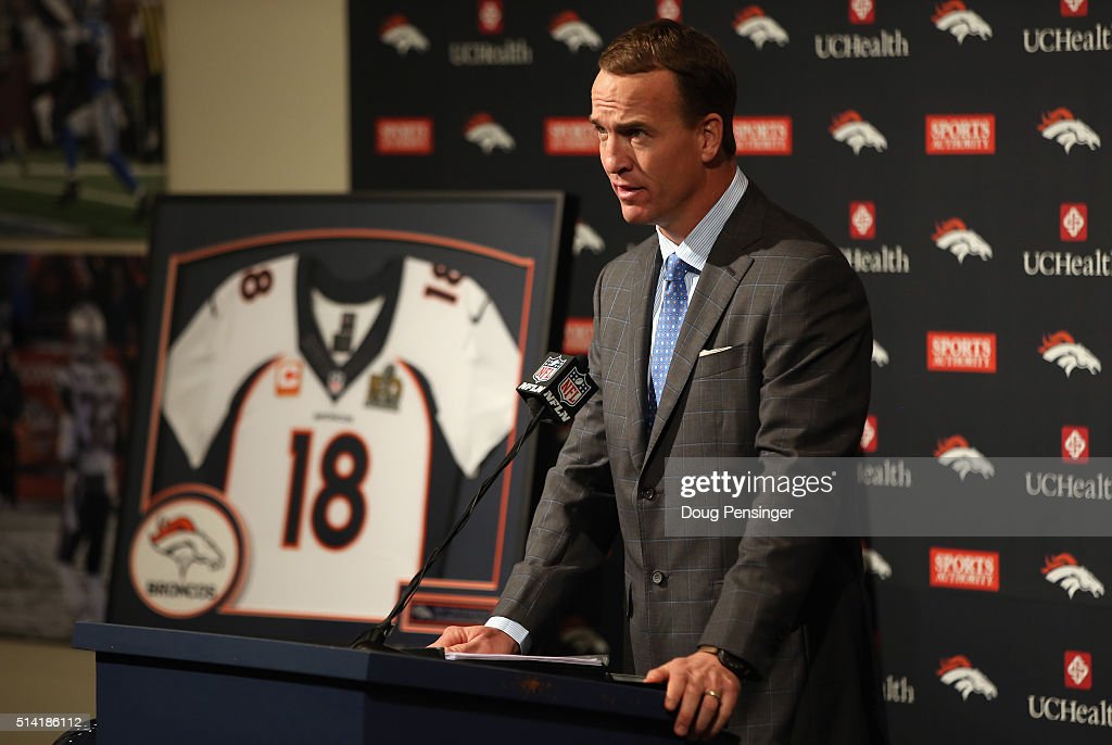 Peyton Manning Announces Retirement : News Photo