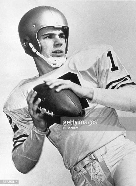 Quarterback Roger Staubach poses for an action portrait in 1962 during his days at Navy where he won the Heisman Trophy Roger Thomas Staubach went on...