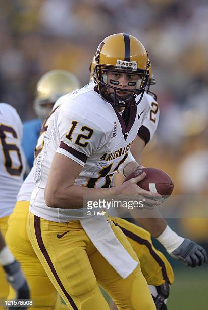 ASU quarterback Rudy Carpenter during the Arizona State vs UCLA game at the Rose Bowl in Pasadena CA on Nov 12 2005 UCLA won their last home game of...
