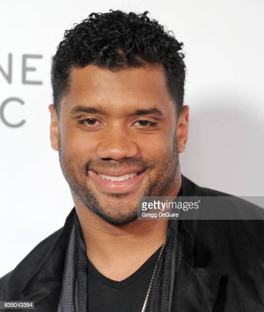 NFL quarterback Russell Wilson arrives at Warner Music Group's Annual GRAMMY Celebration at Milk Studios on February 12 2017 in Hollywood California