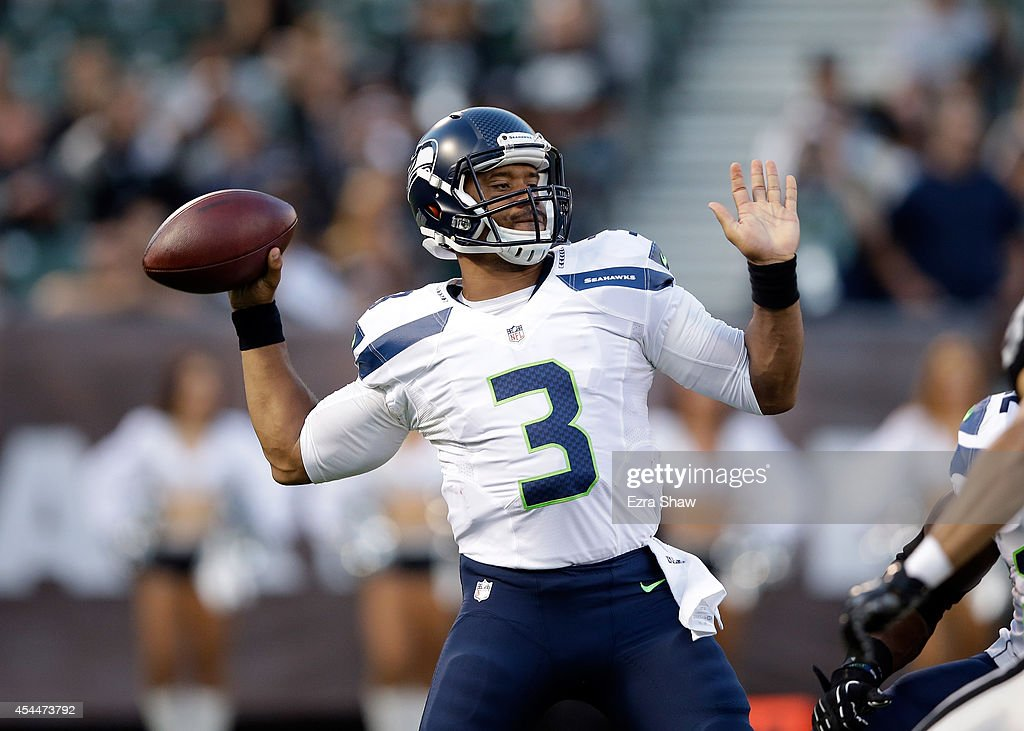 Seattle Seahawks v Oakland Raiders : Fotografía de noticias