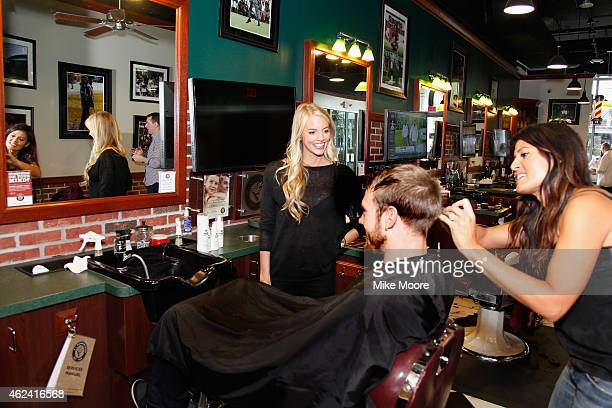 Quarterback Ryan Tannehill sports a neat and sharp look using the new AXE Hair White Label Cooling Style Cream on January 27 2015 in Phoenix Arizona...