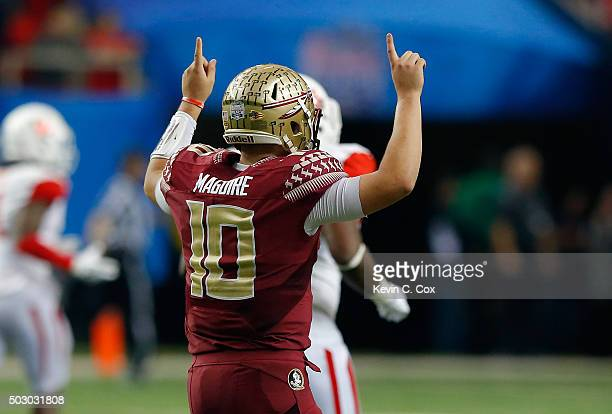 Quarterback Sean Maguire reacts in the fourth quarter against the Houston Cougars during the ChickfilA Peach Bowl at the Georgia Dome on December 31...
