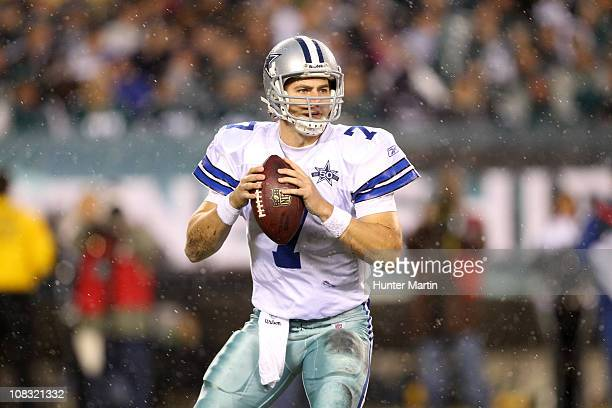 Quarterback Stephen McGee of the Dallas Cowboys drops back to pass during a game against the Philadelphia Eagles at Lincoln Financial Field on...