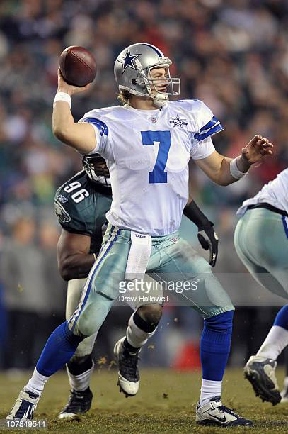 Quarterback Stephen McGee of the Dallas Cowboys passes during the game against the Philadelphia Eagles at Lincoln Financial Field on January 2 2011...