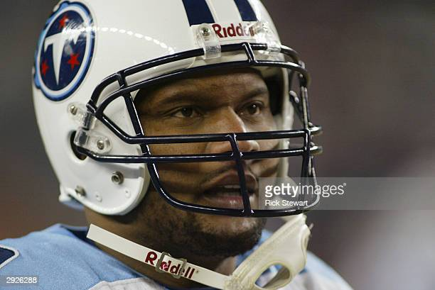 Quarterback Steve McNair of the Tennessee Titans during the game against the New England Patriots in the AFC divisional playoffs on January 10 2004...