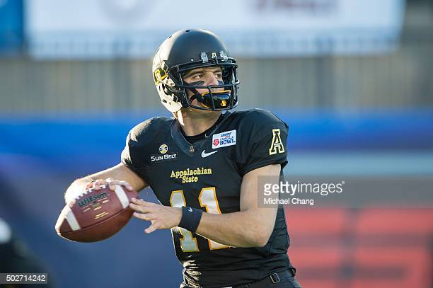 Quarterback Taylor Lamb of the Appalachian State Mountaineers prior to their game against the Ohio Bobcats on December 19 2015 at the Cramton Bowl in...