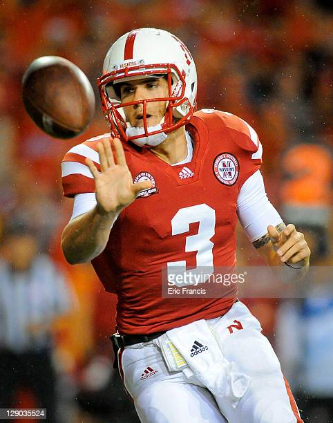 Quarterback Taylor Martinez of the Nebraska Cornhuskers pitches the ball during their game against the Ohio State Buckeyes at Memorial Stadium...