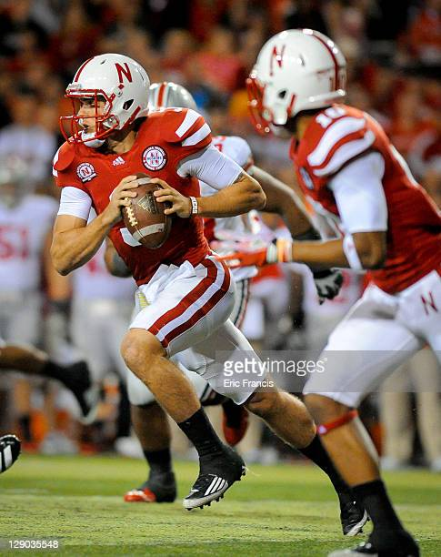 Quarterback Taylor Martinez of the Nebraska Cornhuskers runs with the ball during their game against the Ohio State Buckeyes at Memorial Stadium...