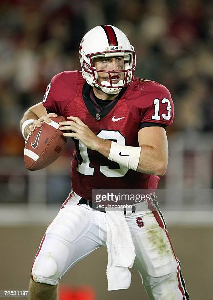 Quarterback T.C. Ostrander of the Stanford Stadium looks to pass during the game against the USC Trojans on November 4, 2006 at Stanford Stadium in...
