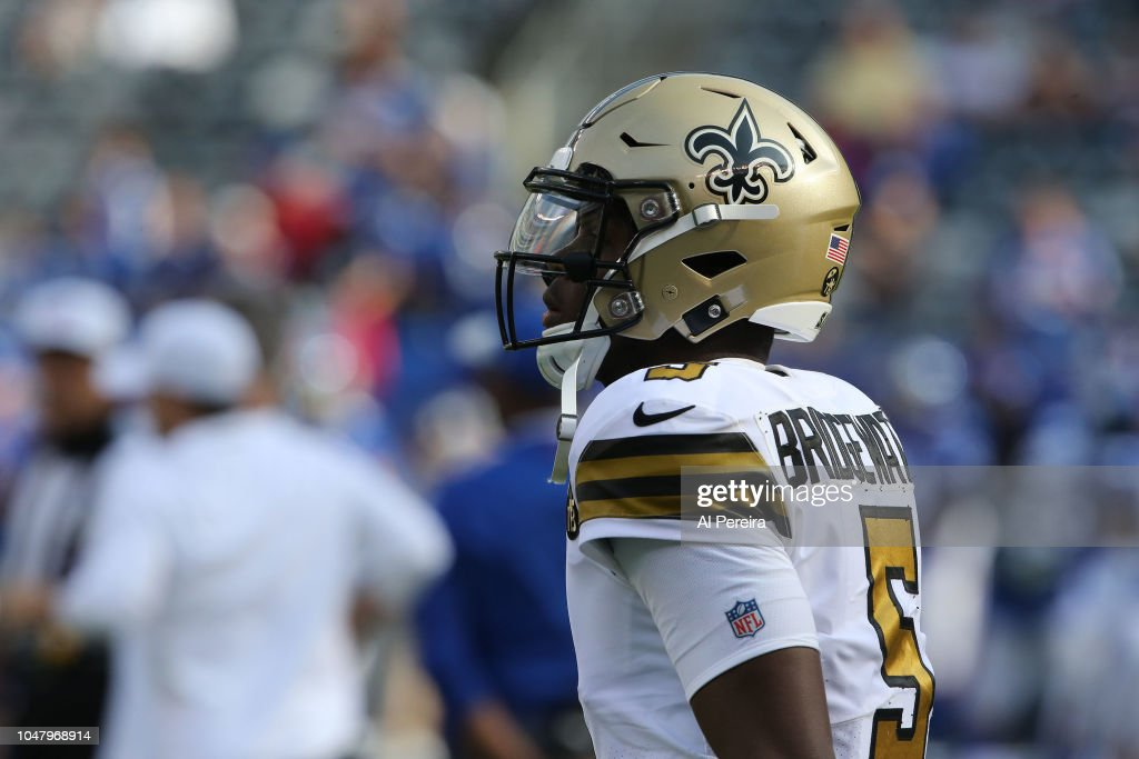 innovative design 4eb8d fedbf Quarterback Teddy Bridgewater of the New Orleans Saints ...