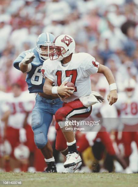 Quarterback Terry Jordan of the the North Carolina State Wolf Pack runs the ball during a NCAA Atlantic Coast Conference college football game...