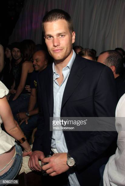 Quarterback Tom Brady attends Jason Strauss' Birthday Party at Marquee on April 7 2005 in New York City
