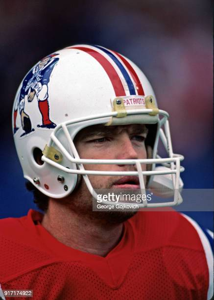 Quarterback Tony Eason of the New England Patriots looks on from the sideline during a game against the Cleveland Browns at Cleveland Municipal...