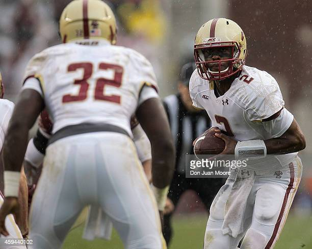 Quarterback Tyler Murphy of the Boston College Eagles during the game against the thirdranked Florida State Seminoles at Doak Campbell Stadium on...