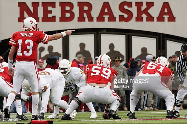 Quarterback Zac Taylor of the Nebraska Cornhuskers calls out theTexas Longhorns defense in the third quarter on October 21 2006 at Memorial Stadium...