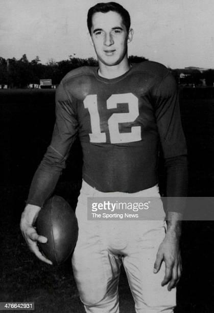 Quarterback Zeke Bratkowski of the University of Georgia Bulldogs circa 1953 in Athens Georgia