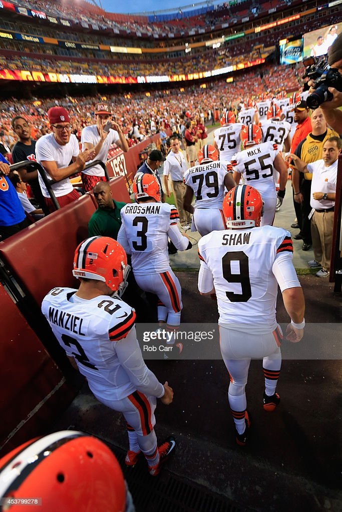 Nice Quarterbacks Johnny Manziel and Connor Shaw of the Cleveland Browns  for cheap