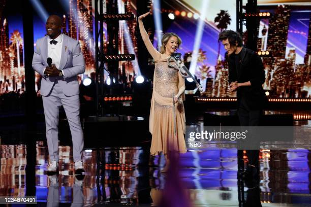 Quarterfinals Results 3 Episode 1614 -- Pictured: Terry Crews, Lindsey Stirling, Shin Lim --