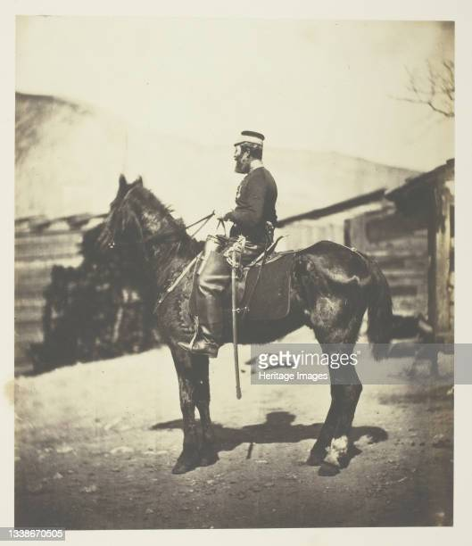 Quartermaster Hill, 4th Lt. Dragoons. The Horse taken immediately after the winter season., 1855. A work made of salted paper print, plate 44 from...